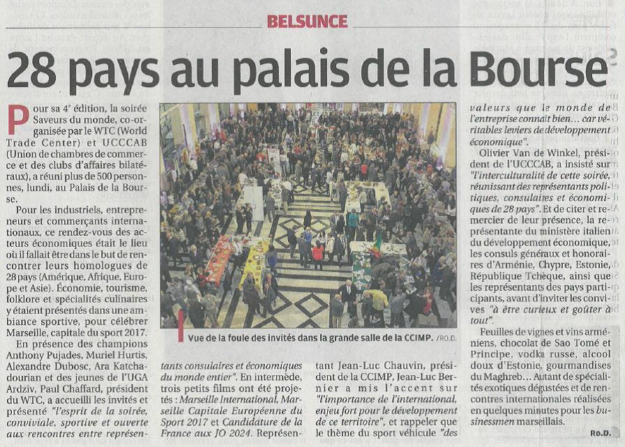 2016.12.08 article La Provence - Saveurs du Monde 2016